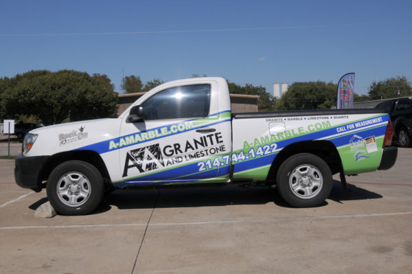 Vehicle Wrap – Truck Wrap of A&A Granite – A&A Marble