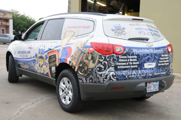 Vehicle Wrap – Van Wrap of AAI Trophies