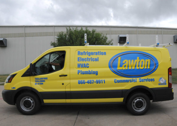 Vehicle Wrap – Delivery Van of Lawton Commercial Services