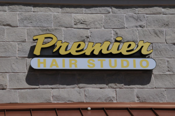 Sign – Storefront Sign of Premier Hair Studio