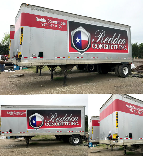 Vehicle Wrap – Trailer Wrap of Redden Concrete