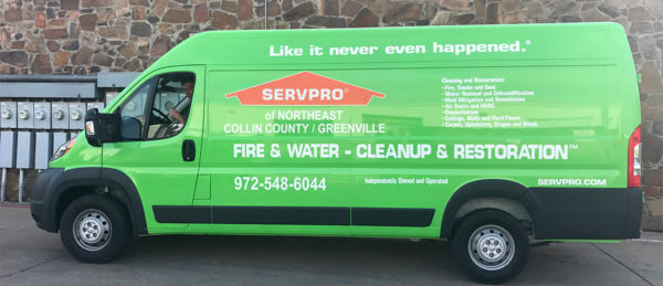 Vehicle Wrap – Delivery Van Wrap of SERVPRO